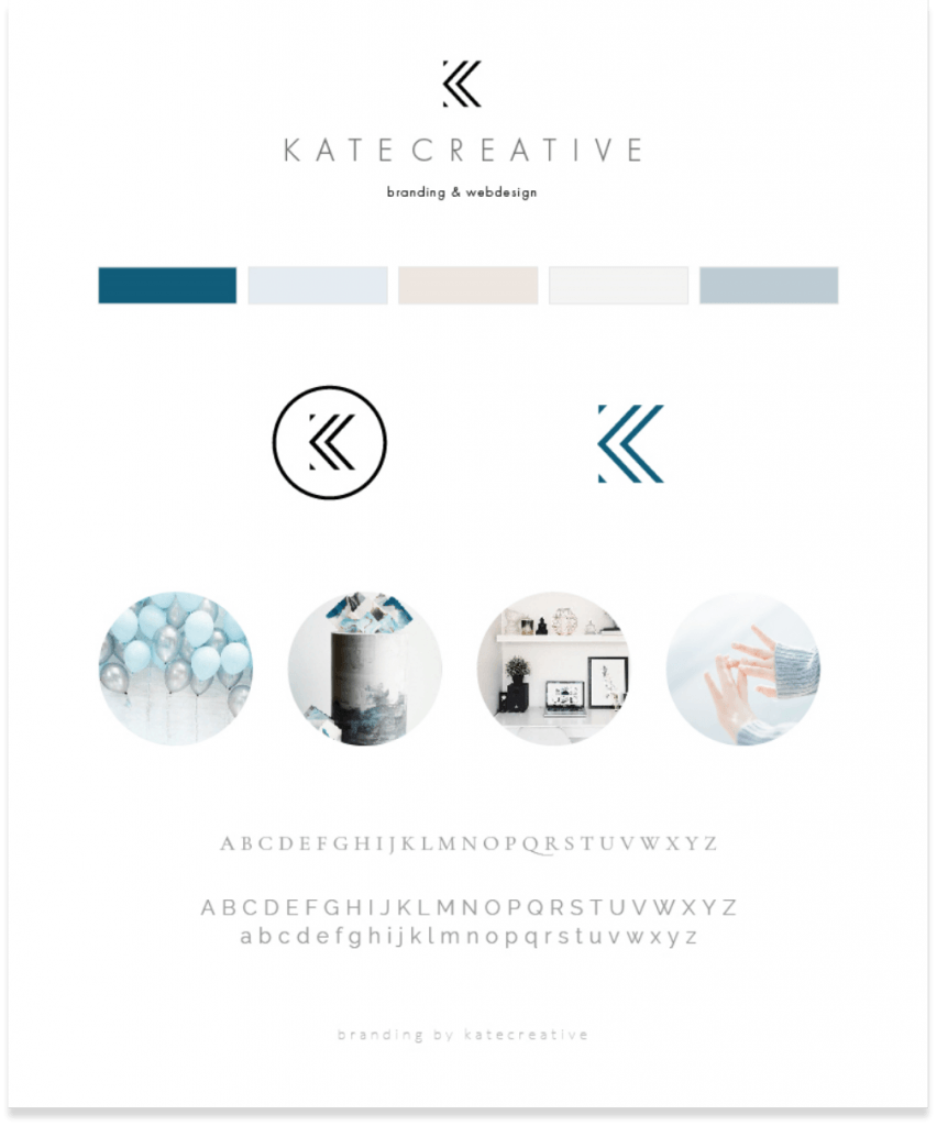 kate creative brand board