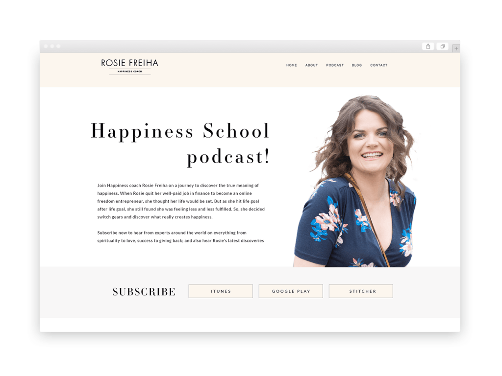 Rosie Freiha mockup site